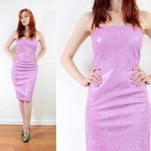 Vintage PVC Bodycon Dress